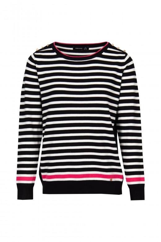 Marine striped knit sweater