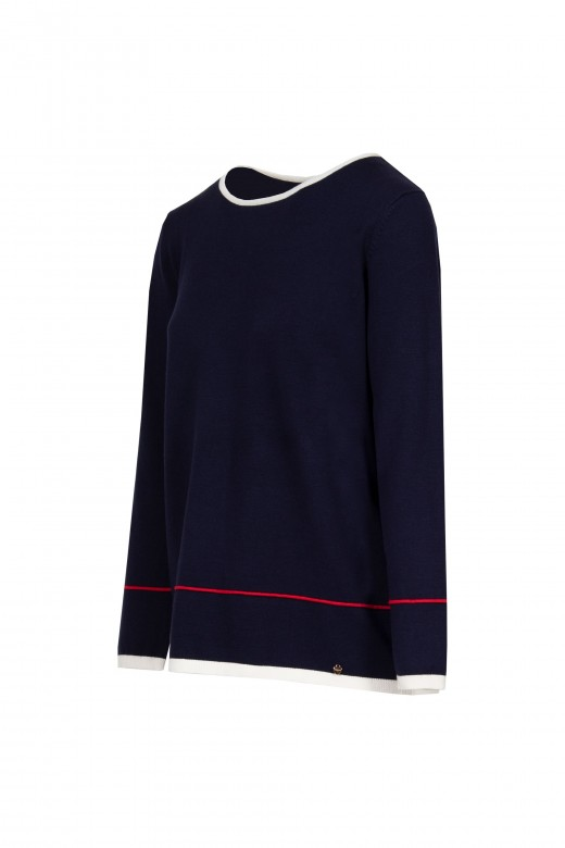 Contrast knitted tunic