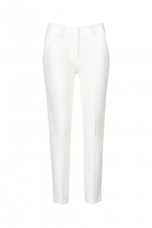Basic mid-waist trousers