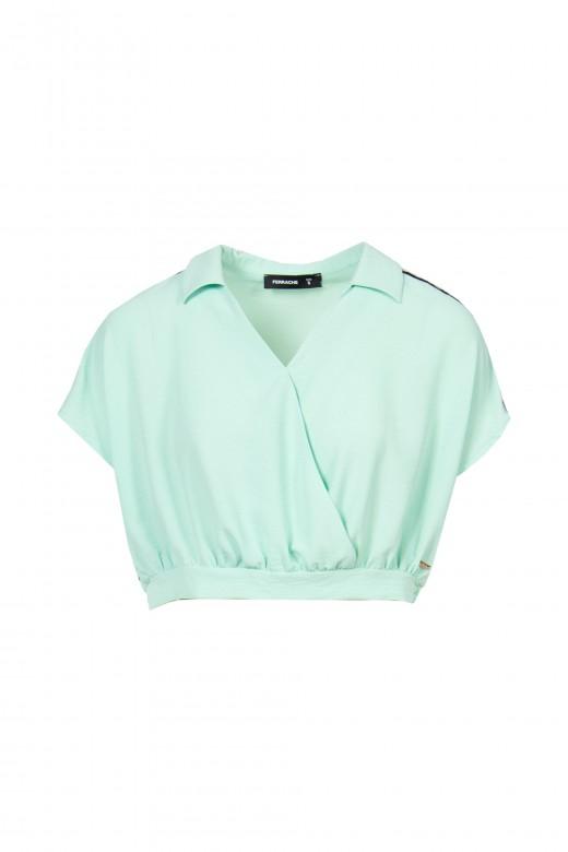 Blusa corta con cinta personalizada