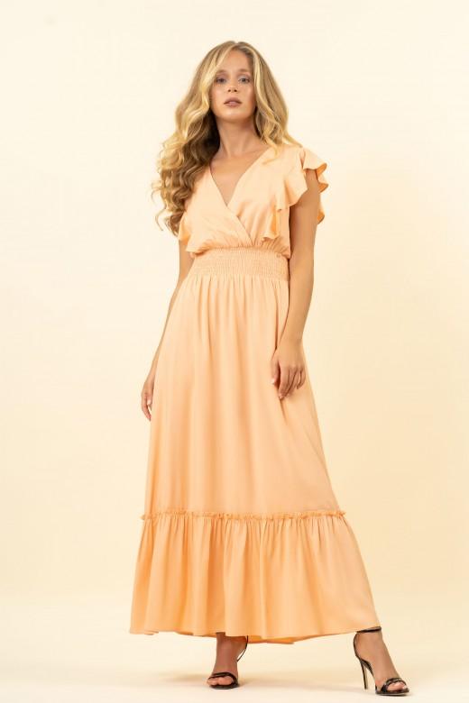 Long cross-over dress