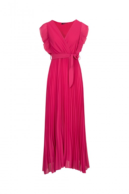 Long dress with ruffle