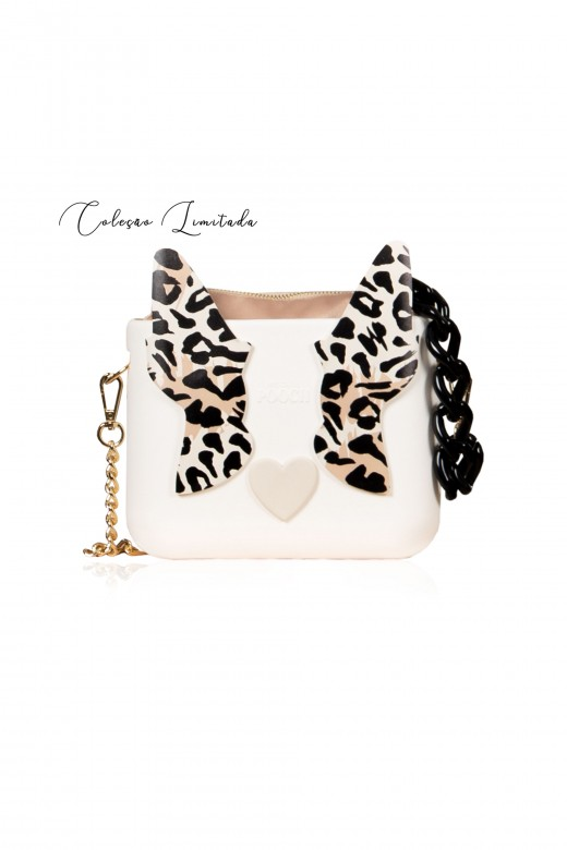 Pooch carteira com orelhas leopardo