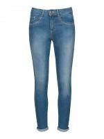 High waisted jeans with shine