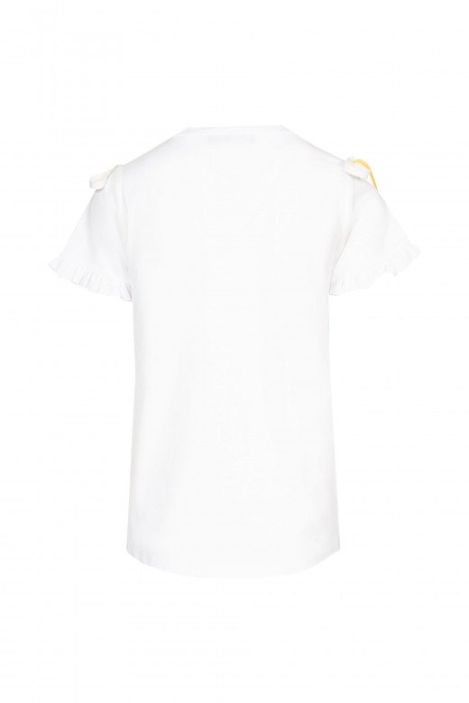 T-shirt with cord lace