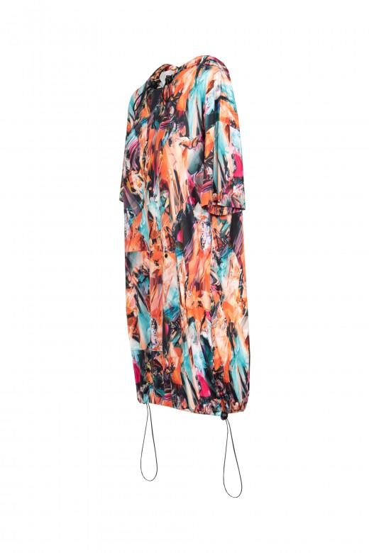 Printed dress with regulator