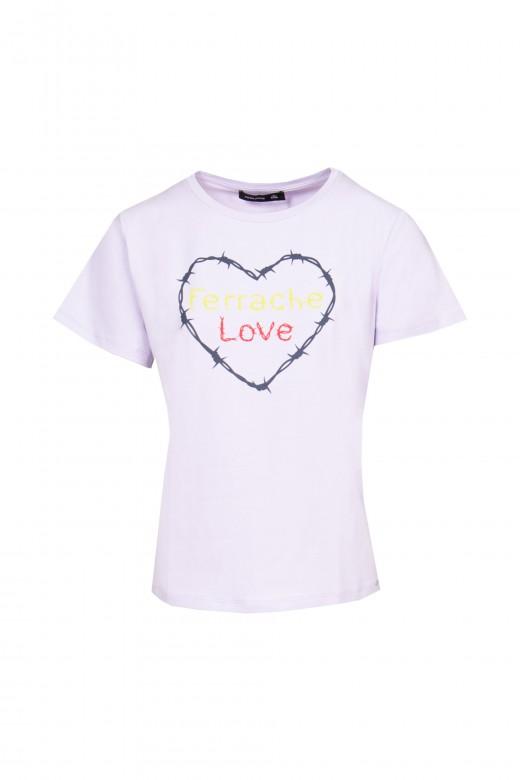 Camiseta básica estampada
