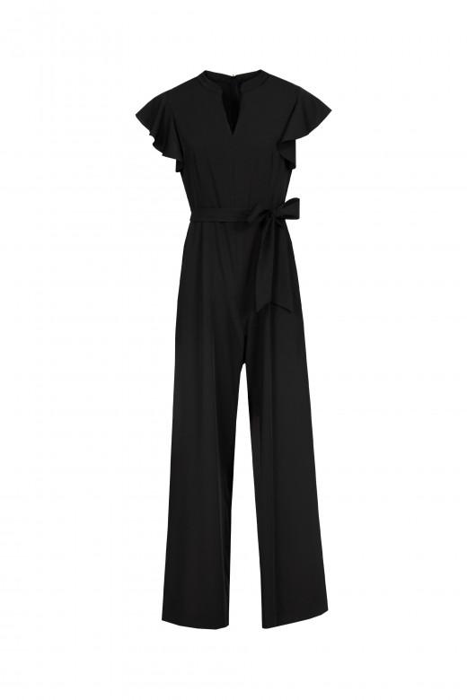 Sleeve ruffle jumpsuit
