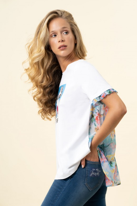 Floral snap tunic