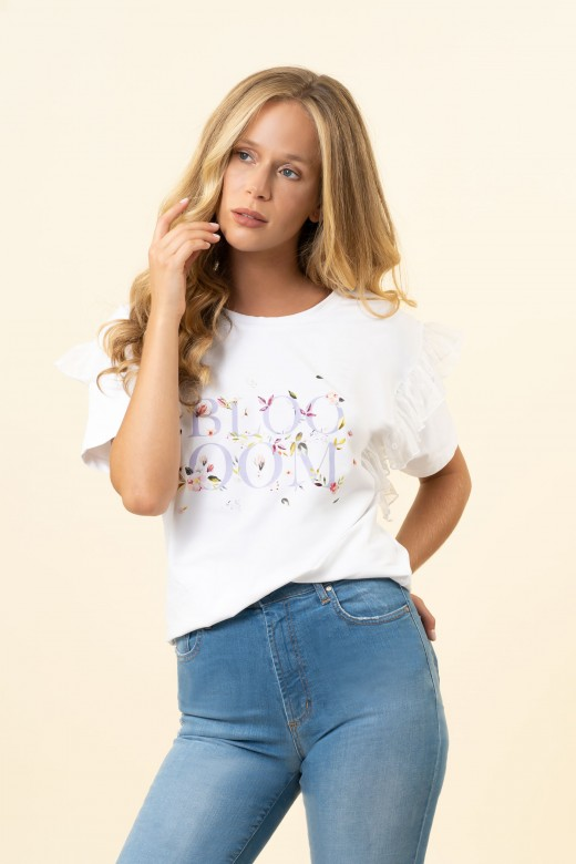 Camiseta floración