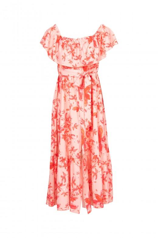 Drop-shoulder dress
