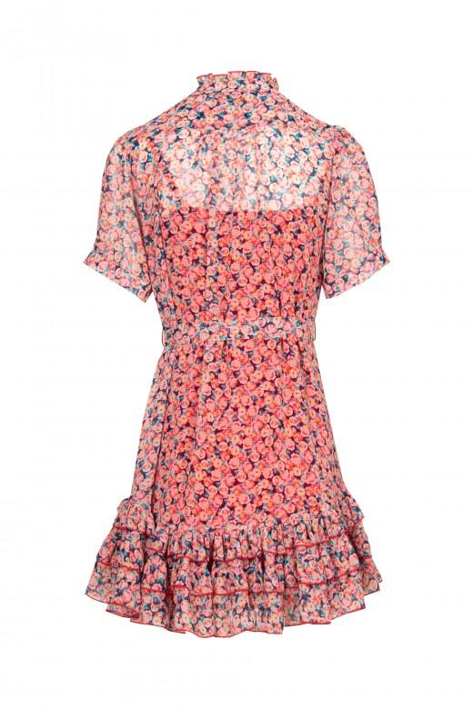 Vestido floral corto