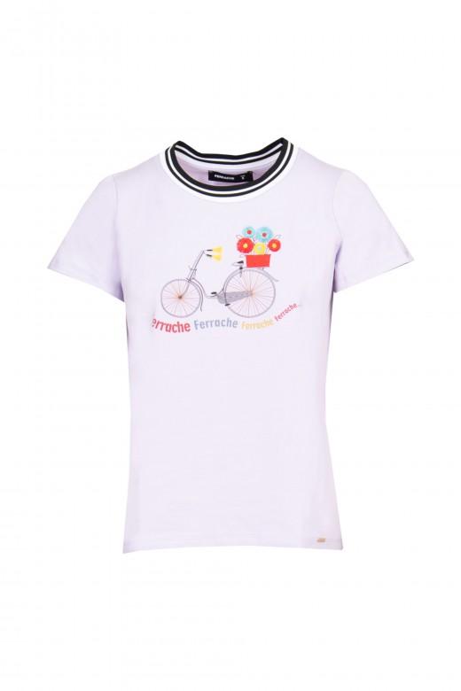 Camiseta con detalle de cinta en el escote