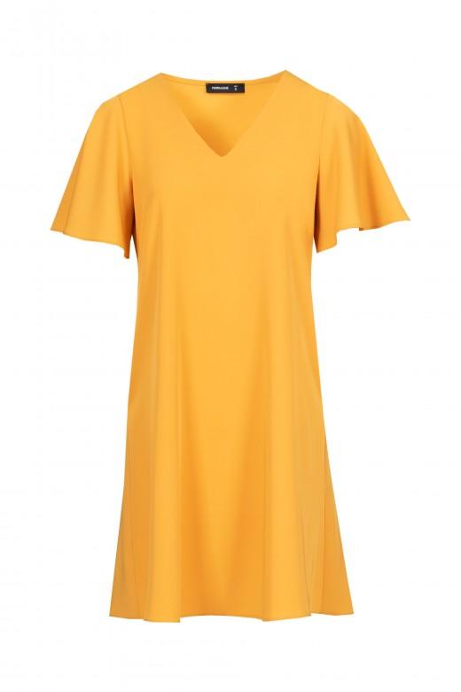 Short-sleeved fluid dress