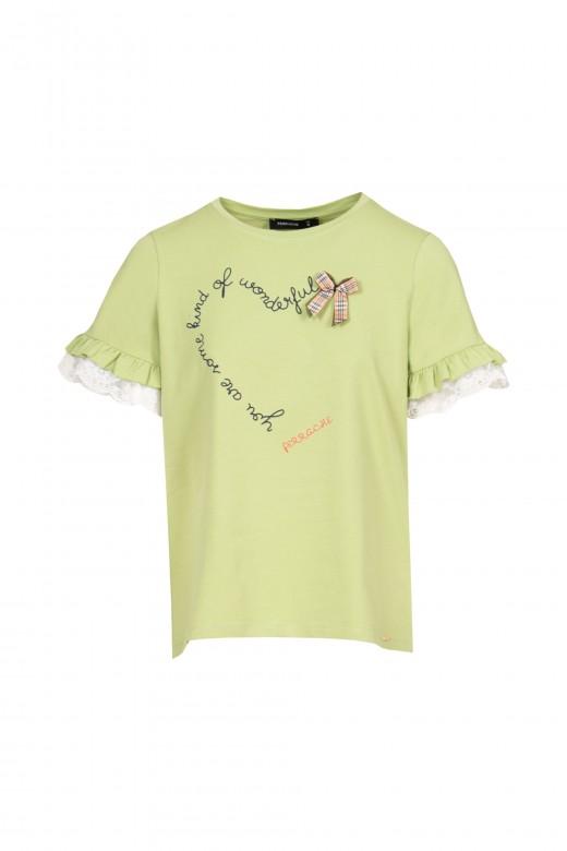 T-shirt à manches volantées avec volants