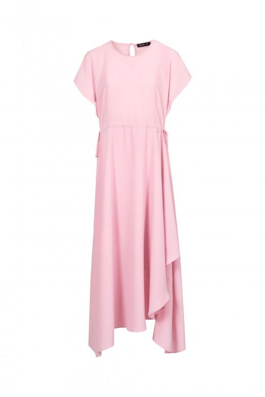 Midi dress with trespass