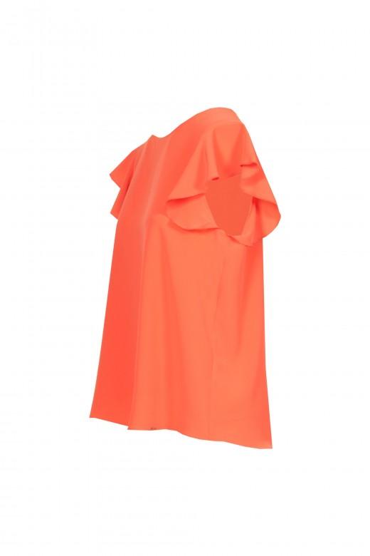Basic tunic with frill sleeve
