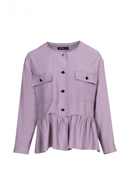 Coat with frill