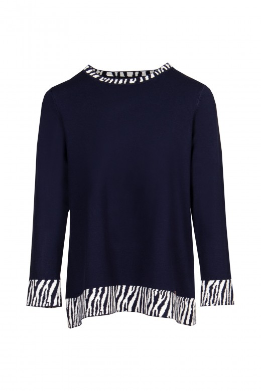 Knitted animal detail tunic