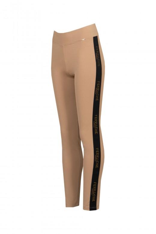 Legging con logo de banda lateral