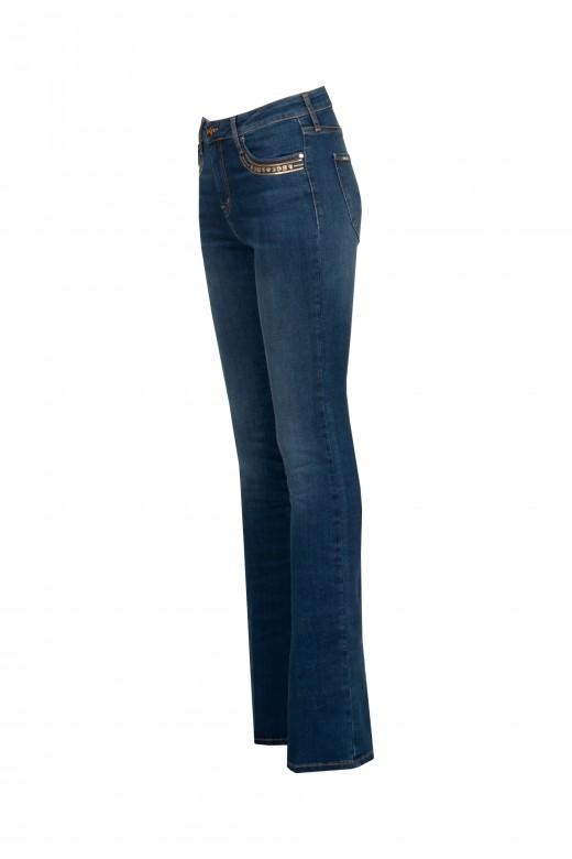 Jeans brillant dans les poches