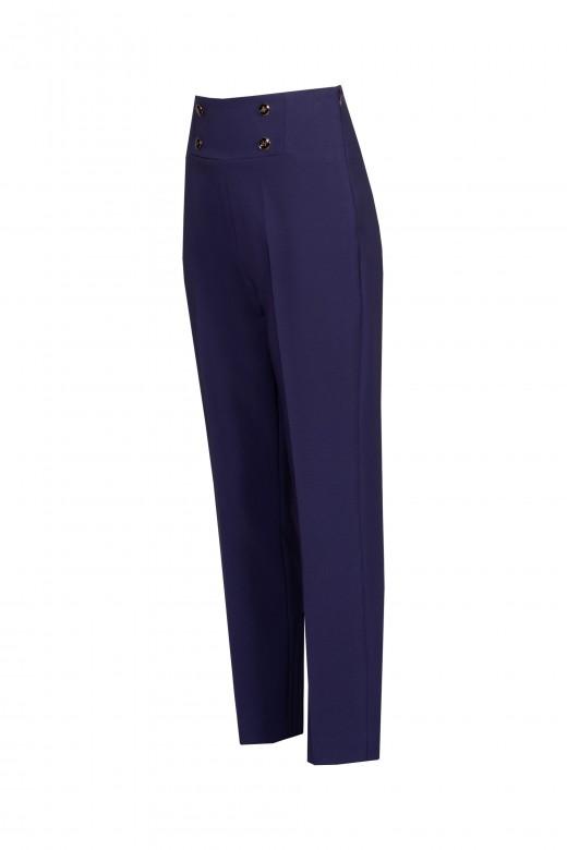 Pantalón slim con cintura alta