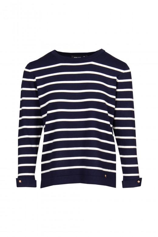 Striped knit tunic