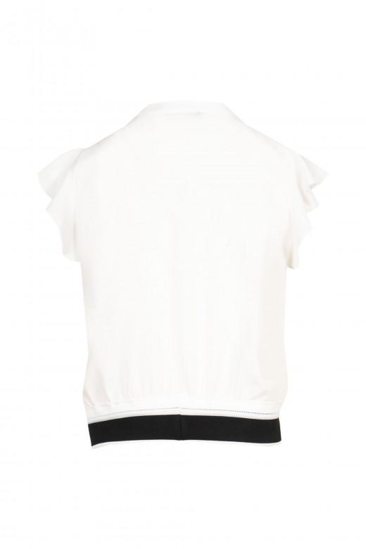 Camisola curta com logo