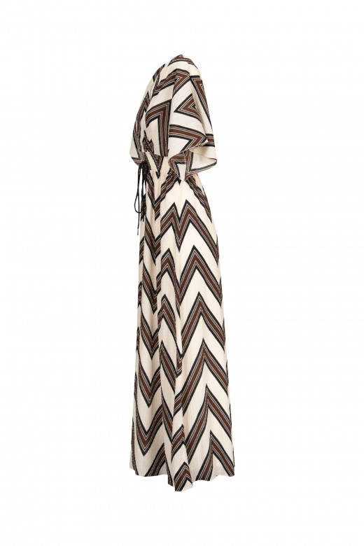 Vestido comprido manga larga