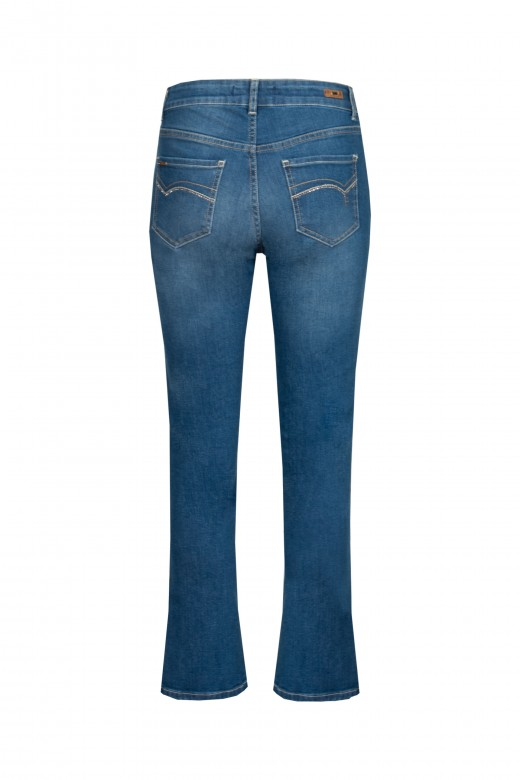 Jeans with leg opening
