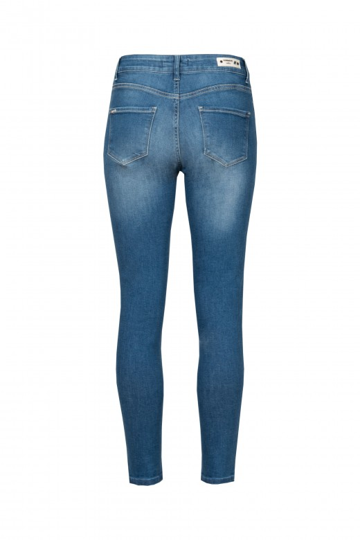 Jeans with shine on the side