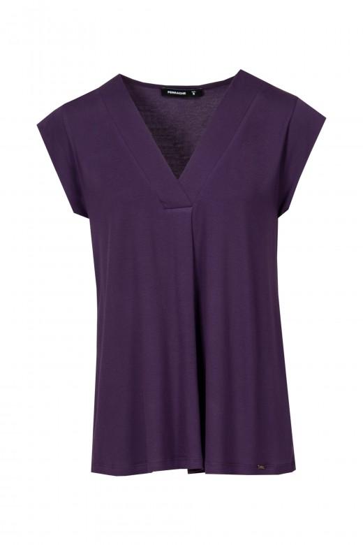 V-shapead blouse