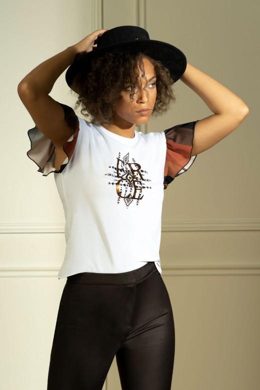 T-shirt à manche gode