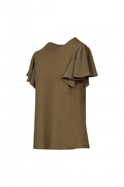 Camisola com manga folho