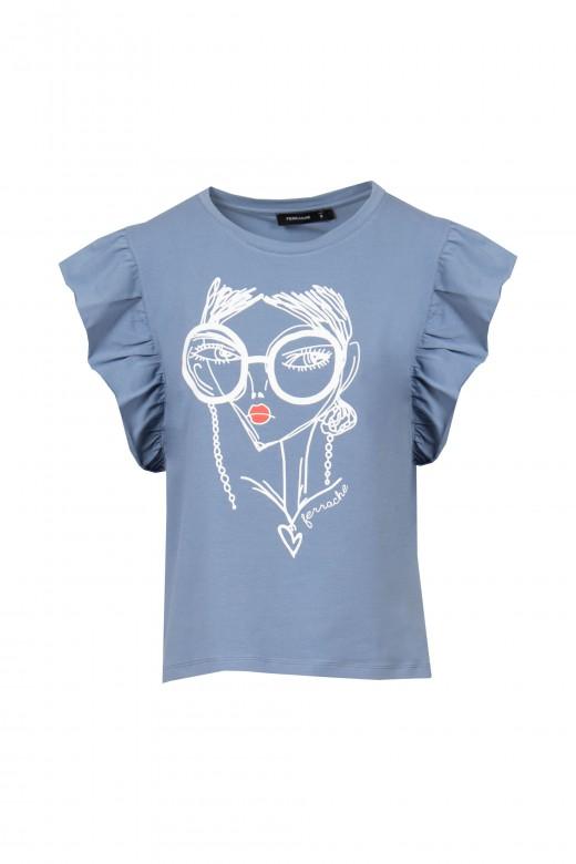 T-shirt à volant
