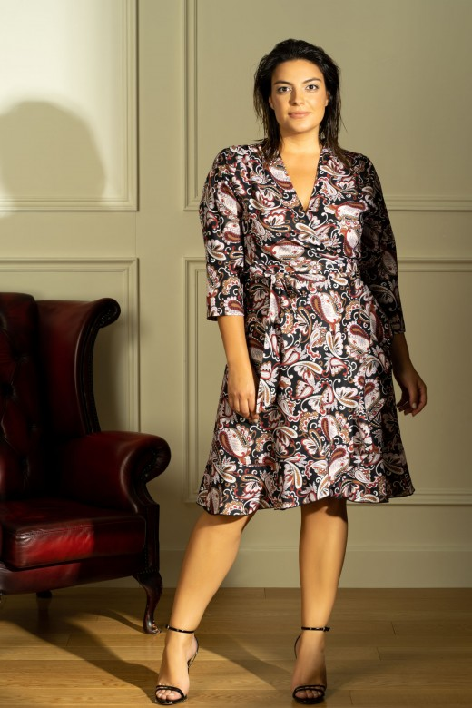 Crossed dress with frill