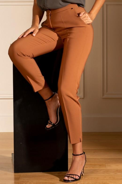 Pants with custom belt
