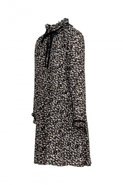 Half collar floral dress