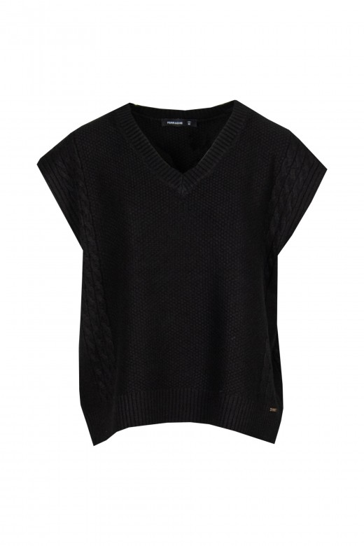 Colete de malha tricot