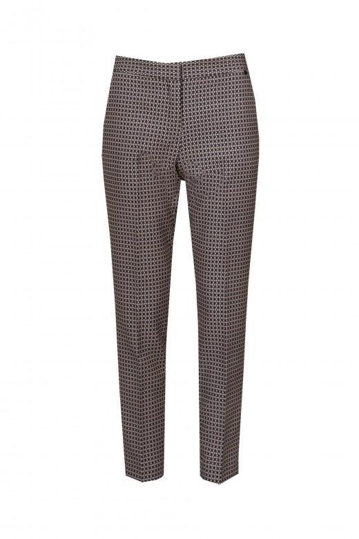 Printed pants with custom belt