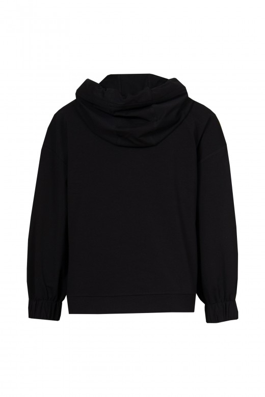 Sweater with nappa pocket