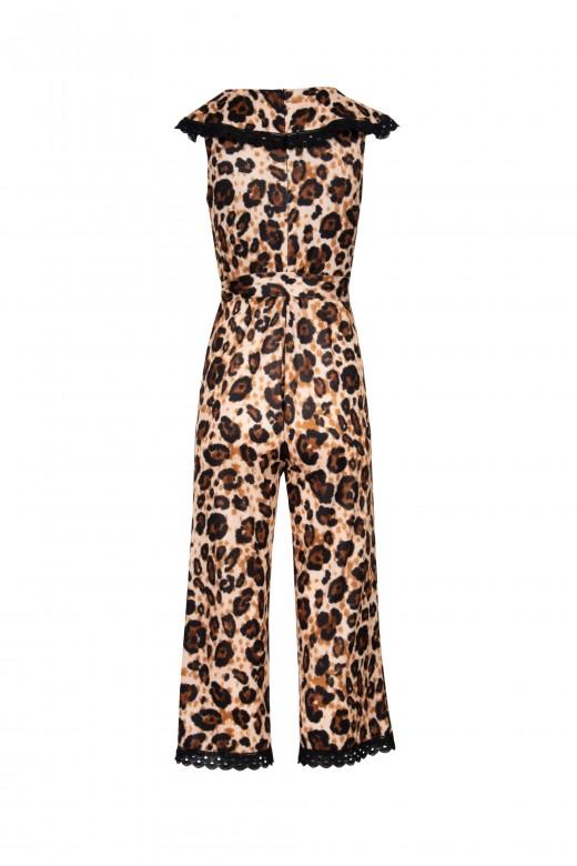 Leopard culotte jumpsuit