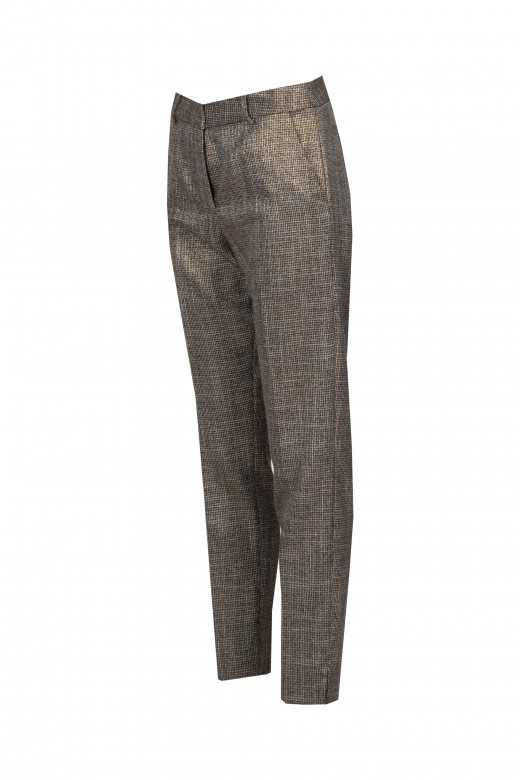 Classic pants with shine