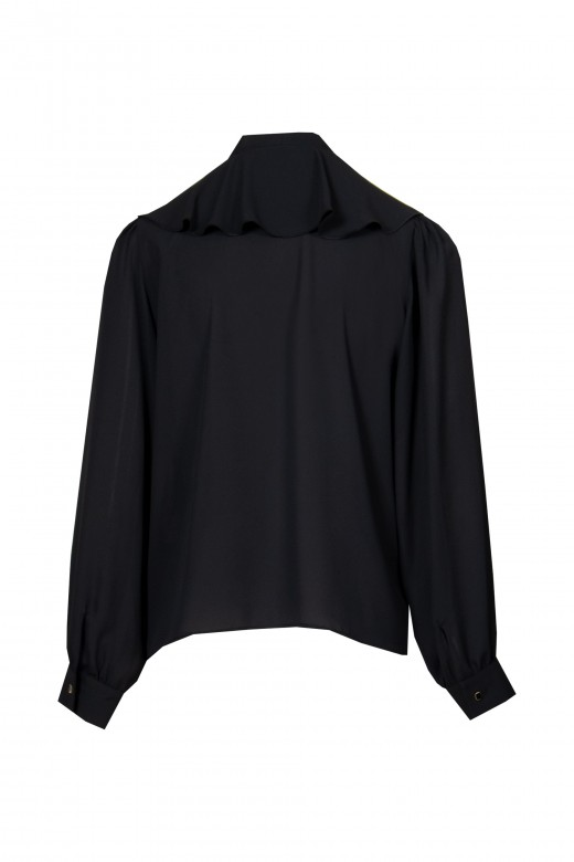 Blouse with frill and bow