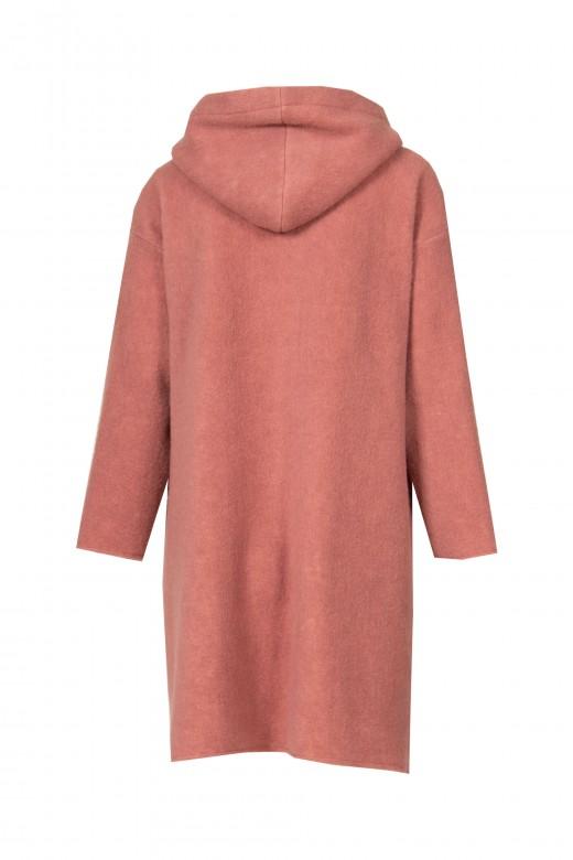 Oversize coat with hood