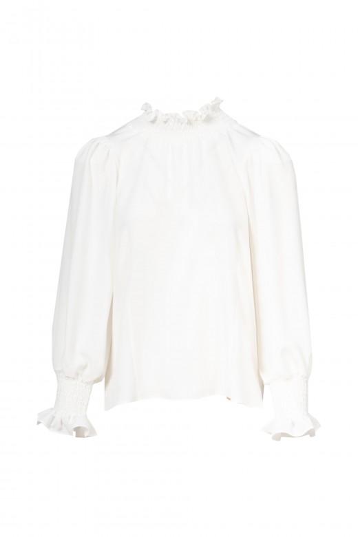 Elastic collar tunic