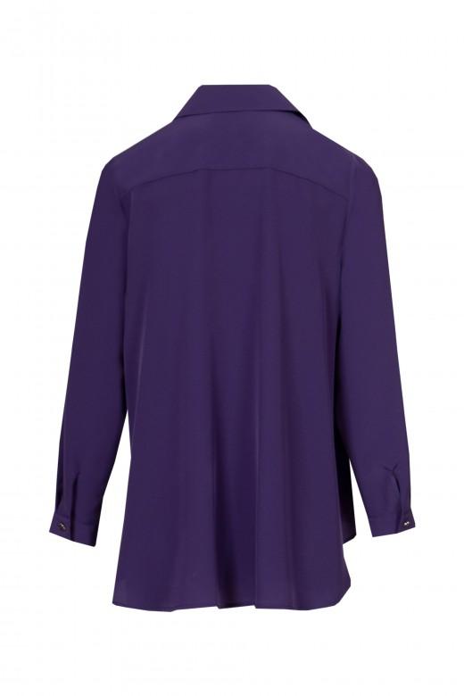 Asymmetrical godet blouse