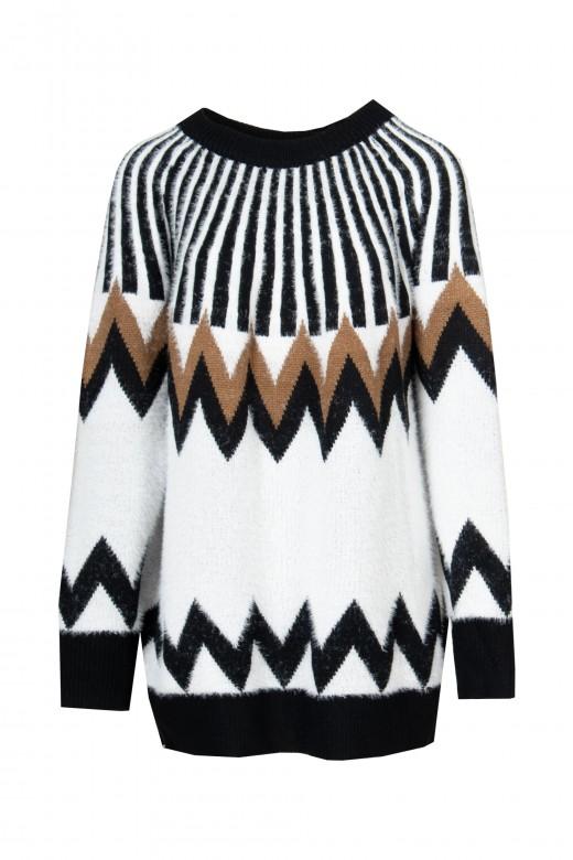 Jacquard oversize sweater