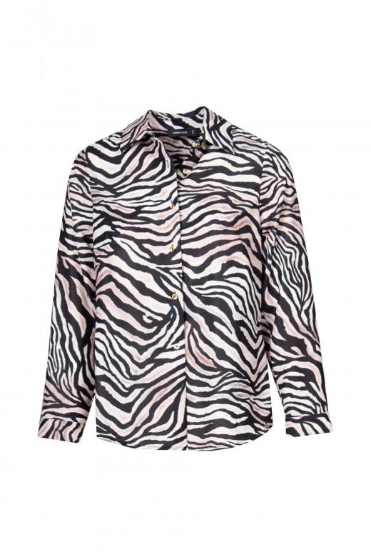 Printed satin blouse