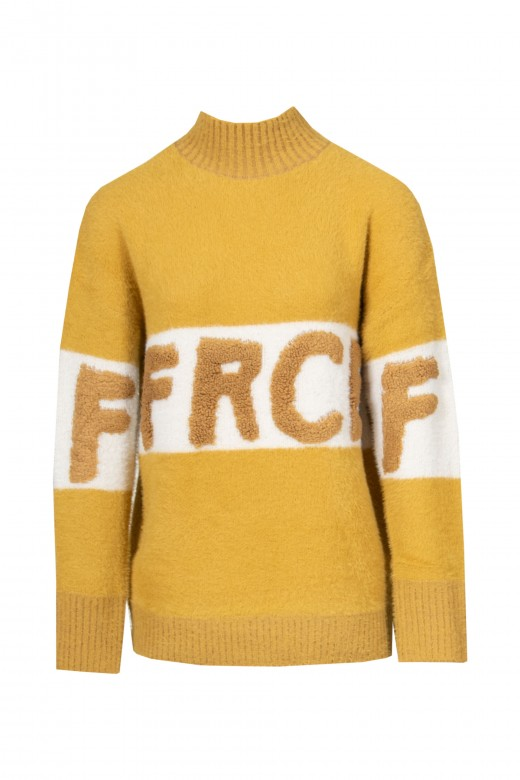 Knitted sweater with logo